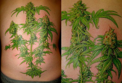 Marijuana Tattoo Designs