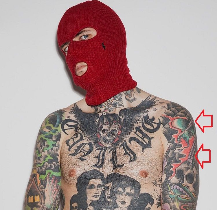 Adam 22-Traditional Snake-Tattoo