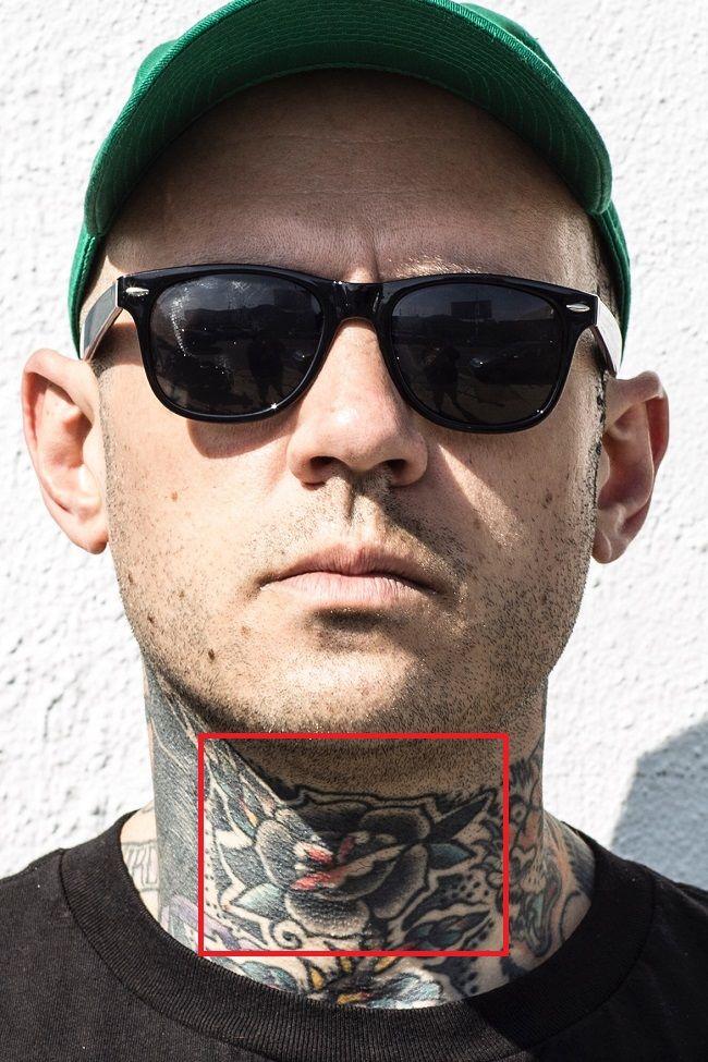 Adam22-Traditional Neck-Tattoo