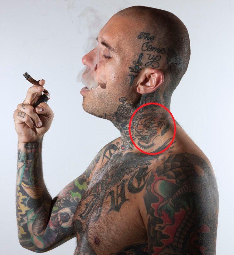 Adam22-Traditional Tiger-Tattoo