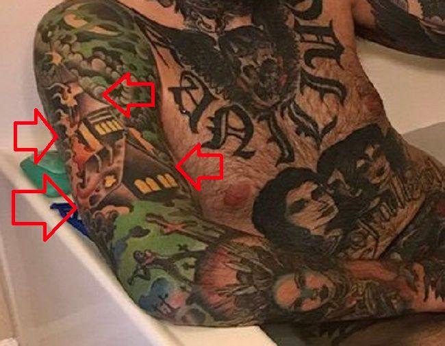 Adam22-house on fire-tattoo