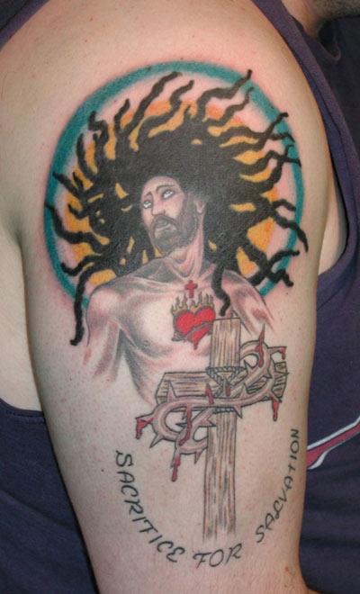 Black Jesus Tattoo