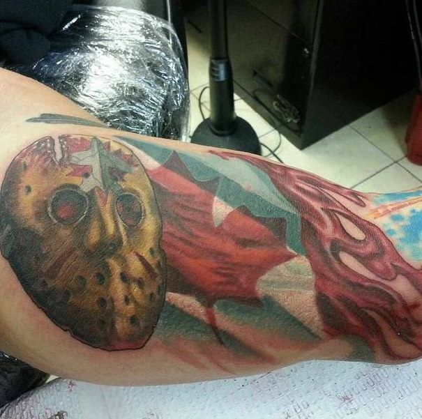 Chris upper arm Tattoo