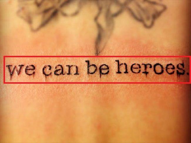 Christina Perri-we can be heroes-Tattoo