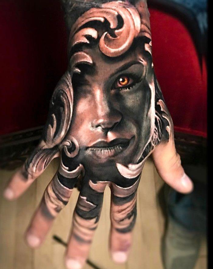 Jimmy Lewin-Face Morph-Tattoo