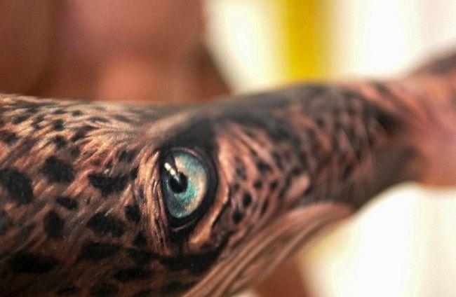 Jimmy Lewin-Leopard Eye Tattoo