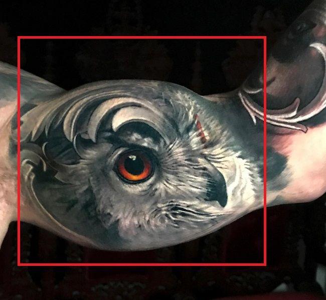 Jimmy Lewin-Owl Tattoo