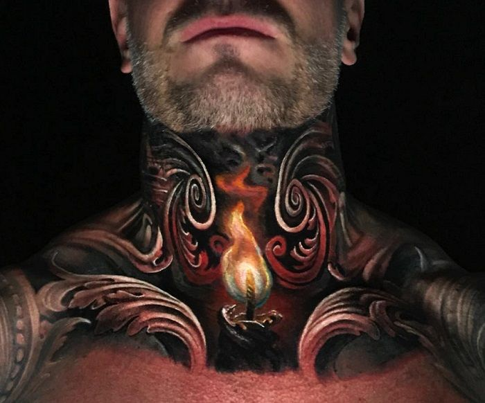 Jimmy Lewin-Tattoo-Neck and Shoulders
