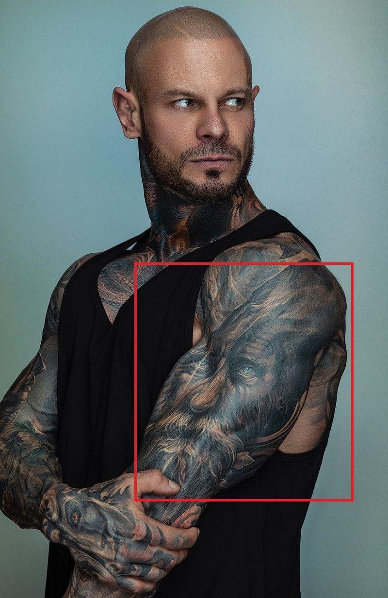 Jimmy Lewin-Viking Themed Tattoo