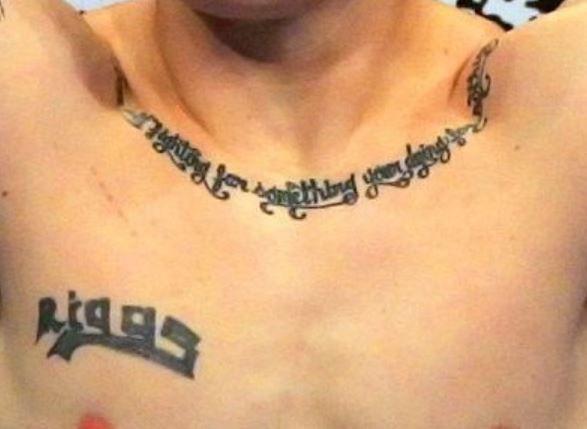 Joe Riggs name words tattoo 1