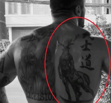 Karrion Kross beast tattoo