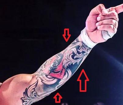 Karrion Kross floral tattoo