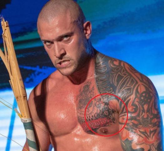 Karrion Kross geometrical tattoo