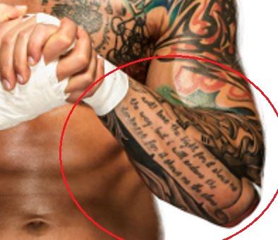 Karrion Kross quote tattoo