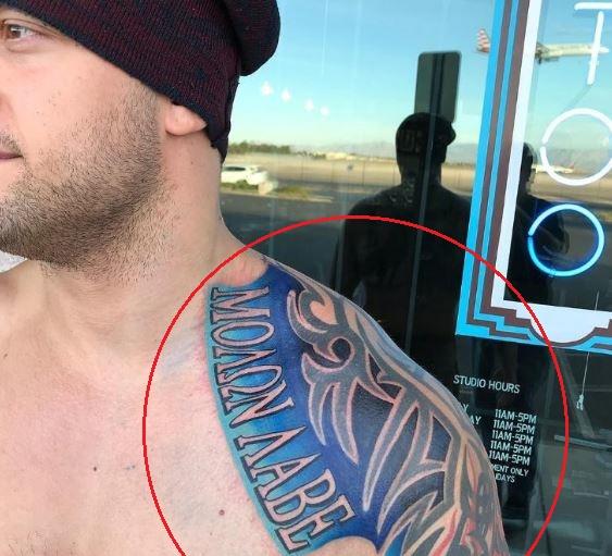 Karrion Kross tribal tattoo