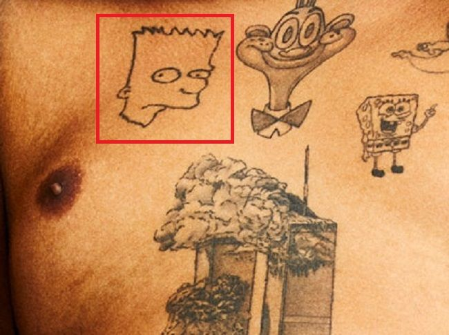 Kerwin Frost-Bart Simpson-Tattoo