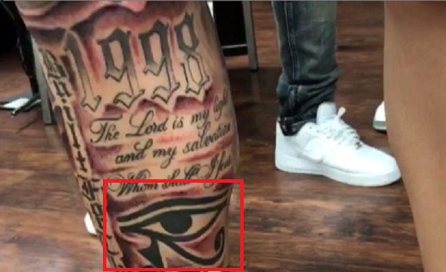 LiAngelo Ball-Eye of Horus Tattoo