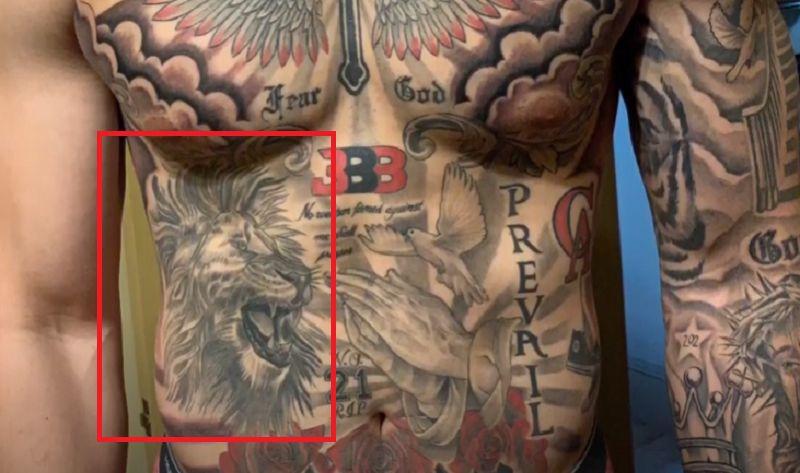 LiAngelo Ball-Lion Tattoo