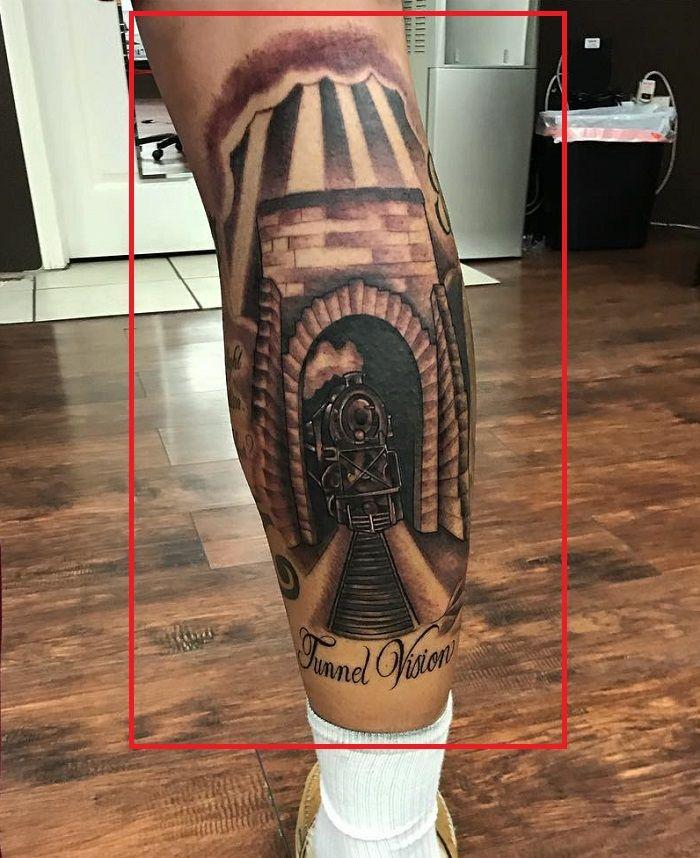 LiAngelo Ball-Tunnel Vision Tattoo