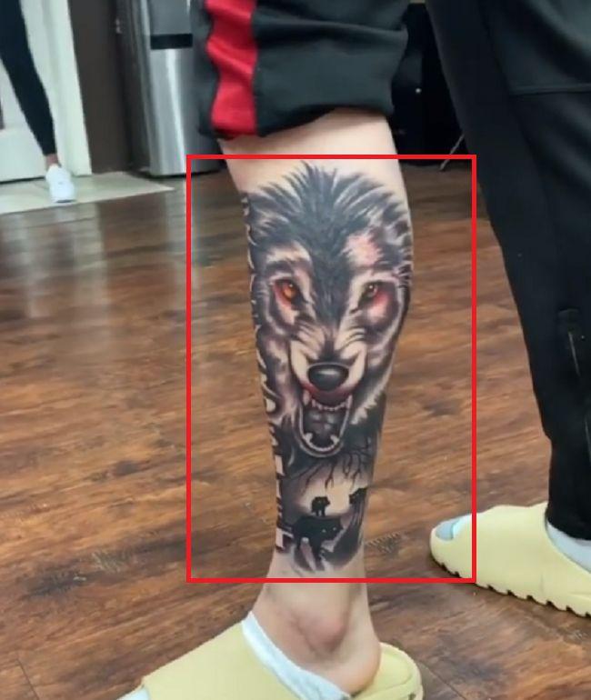 LiAngelo Ball-Wolf Tattoo