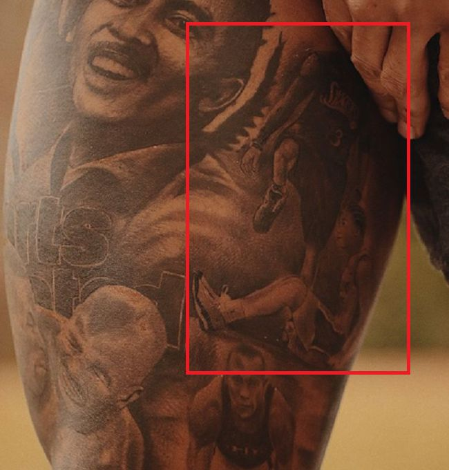 Odell Beckham Jr-Allen Iverson stepping over Tyronn Lue-Tattoo
