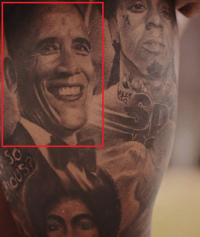 Odell Beckham Jr-Barack Obama-Tattoo