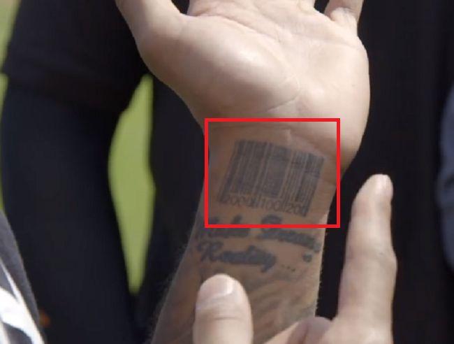 Odell Beckham Jr-Barcode-Tattoo