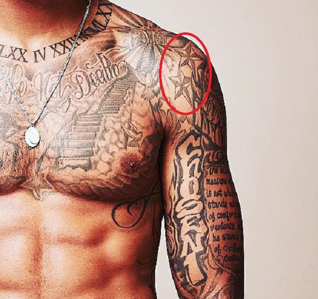 Odell Beckham Jr-Nautical Stars-Tattoo