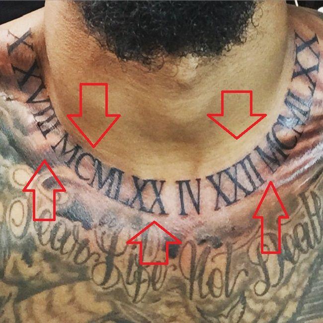 Odell Beckham Jr-Roman Numerals-Tattoo