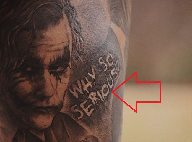 Odell Beckham Jr-WHY SO SERIOUS- Tattoo