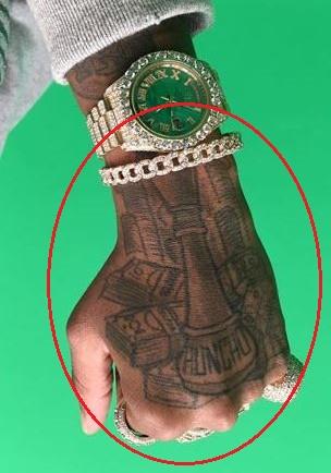 Quavo cash huncho tattoo