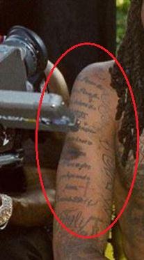 Quavo words tattoo
