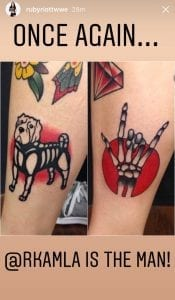 Ruby Bull dog and Metals fingers hand Tattoo