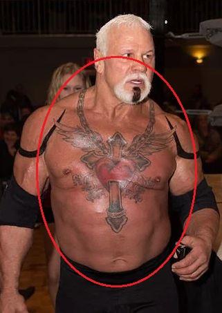 Scott Steiner cross heart tattoo