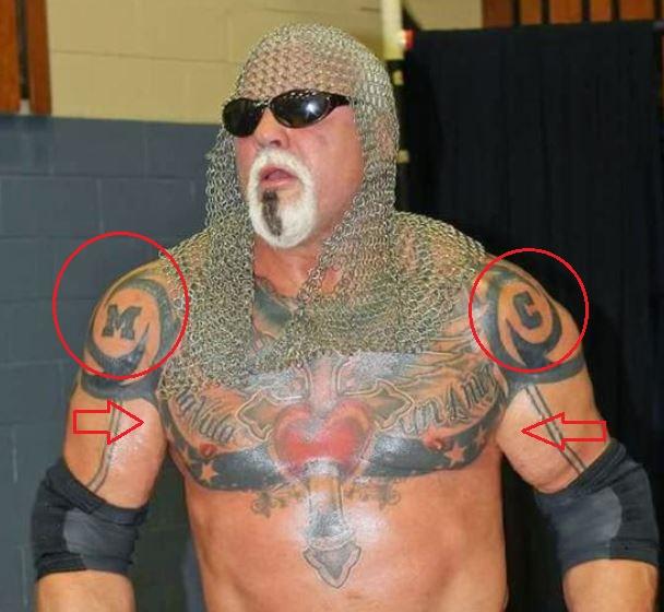 Scott Steiner letters quote tattoo
