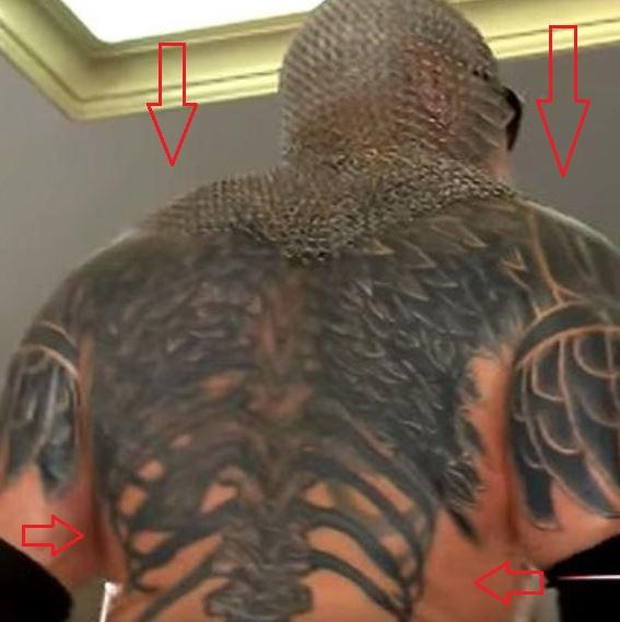 Scott Steiner wings skeleton tattoo