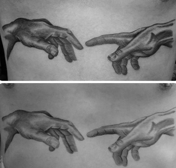The Creation of Adam Tattoo Designs