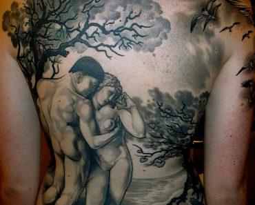 adam and eve tattoos
