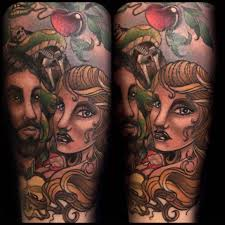 adam and eve tattoos