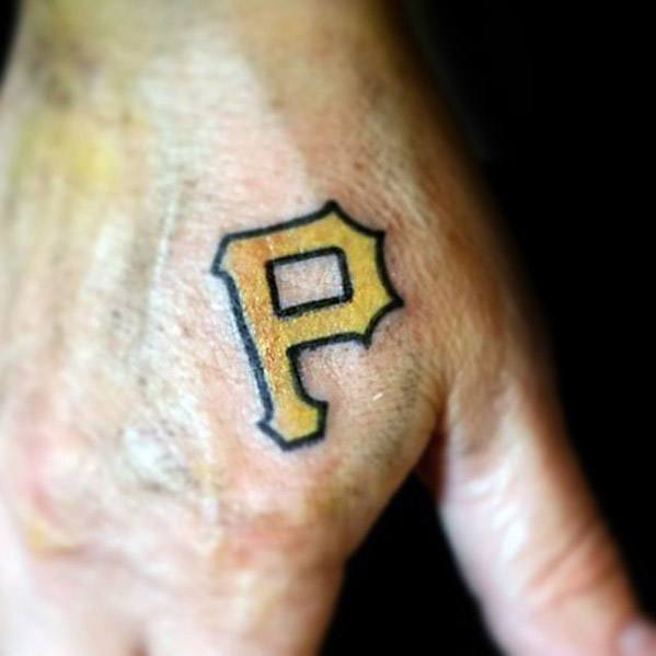 Letter P Tattoo Design