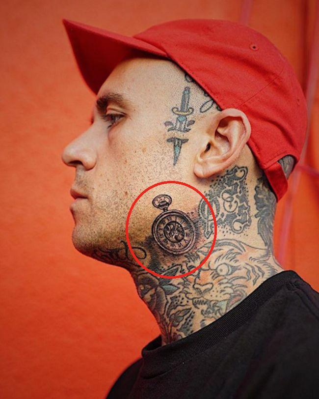 Adam22-Clock-Tattoo