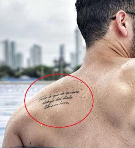 Alejandro Speitzer back tattoo