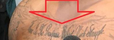 Brandon chest Tattoo