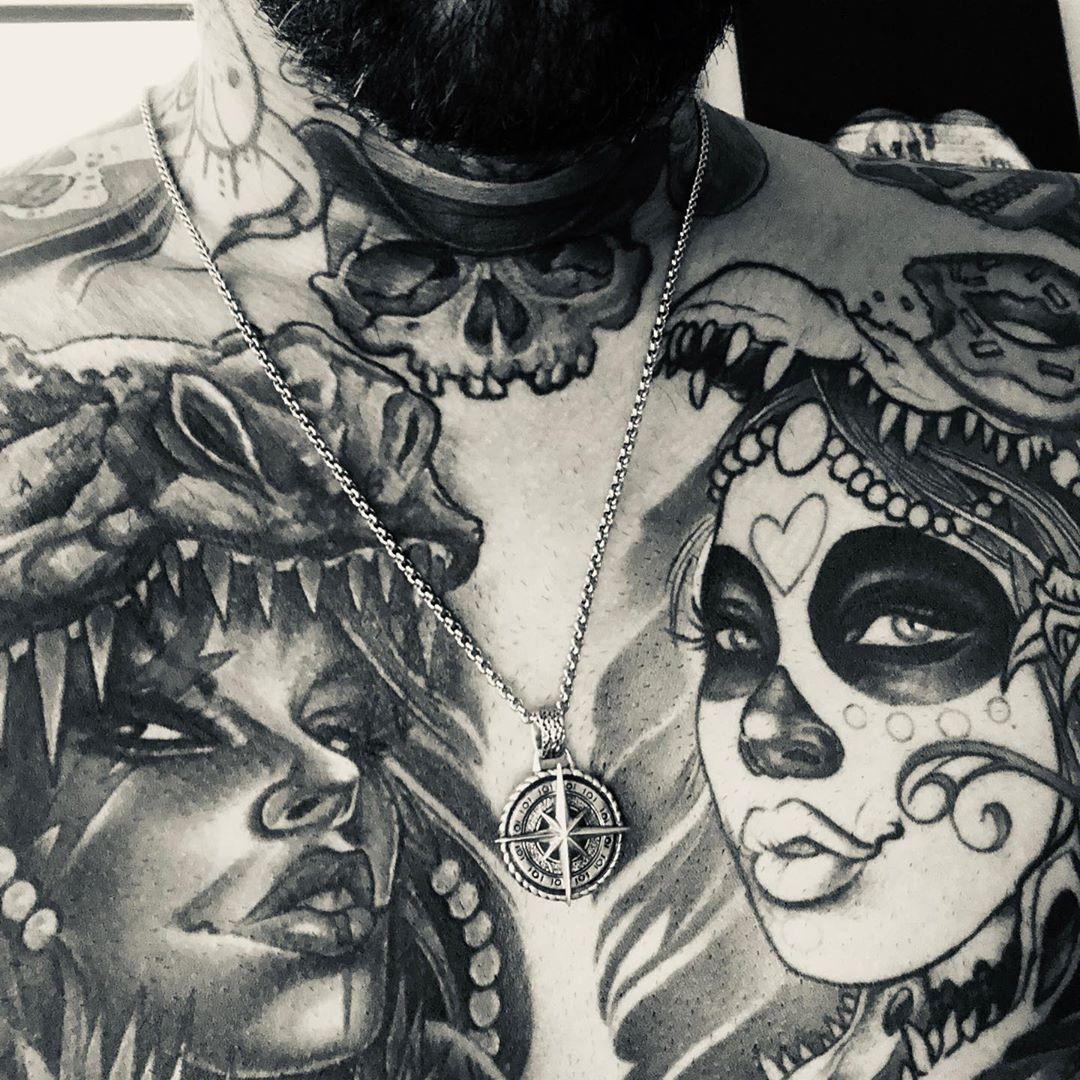 Corey Chest Tattoo