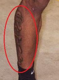 Derrick Jones Jr. design tattoo