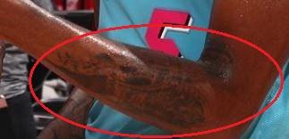 Derrick Jones Jr. forearm tattoo