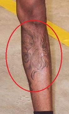 Derrick Jones Jr. lion tattoo