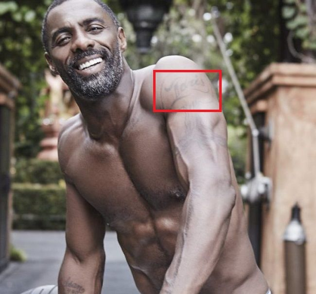 Idris Elba-Idris-Tattoo