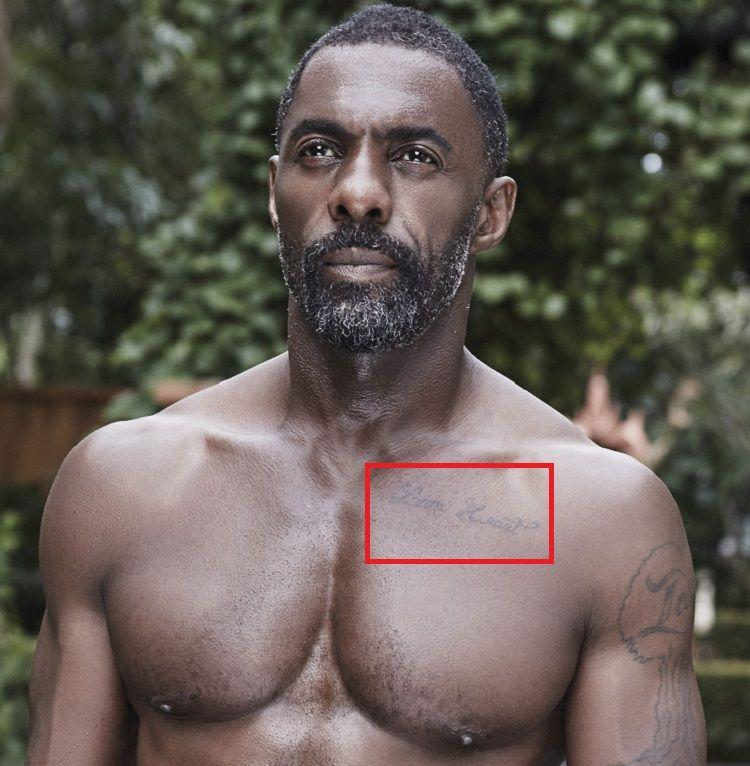 Idris Elba-Tattoo-Left Pec