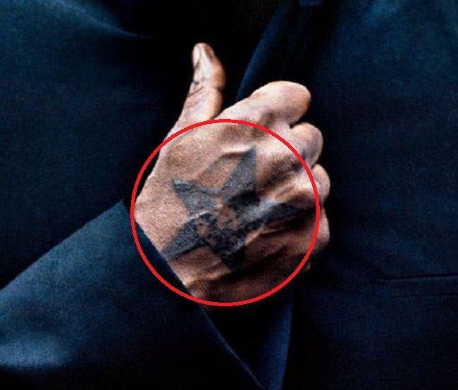 Idris Elba-The Black Star of Ghana-Tattoo
